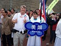 Preparing to march in for the Opening Ceremonies of the Weifang International Kite Festival.  We need to learn from Weifang how to do a kite festival!