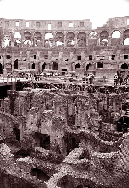 Coliseum Insides sepia